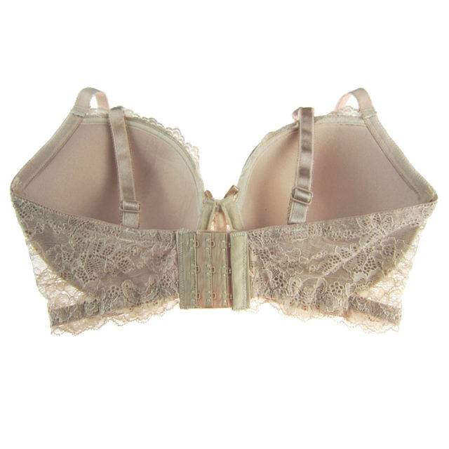 Cute Plus-Size Push-Up Lace Bra Best Sellers Color : Beige